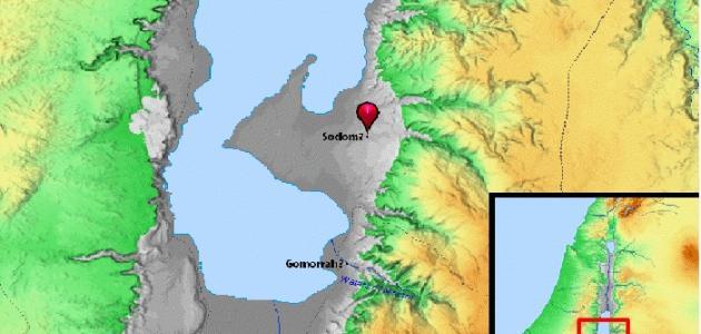أين تقع قرية سدوم