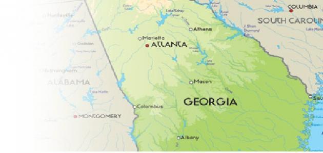 أين تقع جورجيا في أمريكا