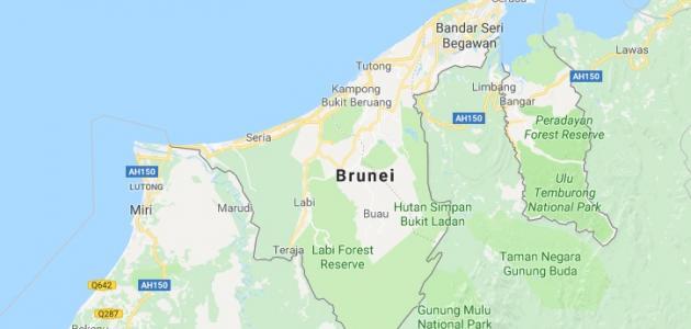 أين تقع دولة بروناي الإسلامية