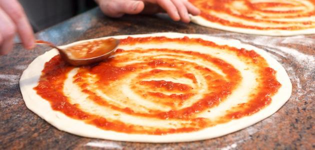 طريقة صوص البيتزا