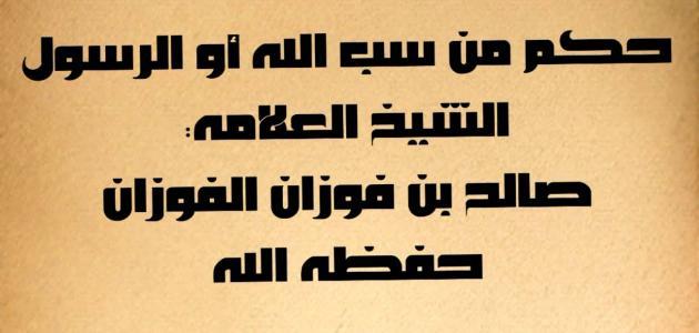 حكم سب الدين