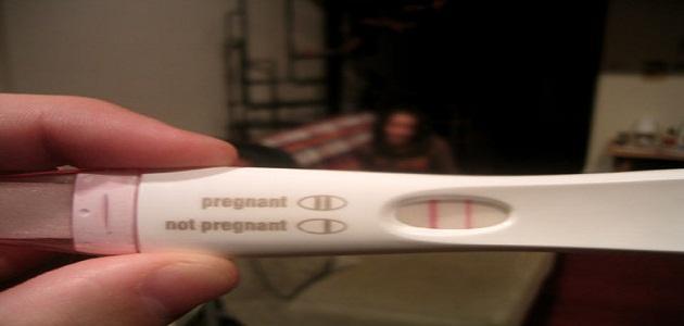متى يظهر اختبار الحمل المنزلي