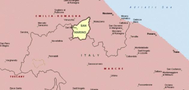 أين تقع سان مارينو