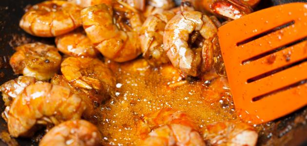 طريقة طبخ الروبيان