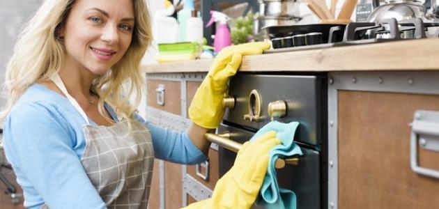 كيف أنظف الفرن من الزيت