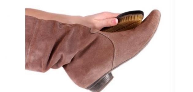 كيفية تنظيف حذاء الشامواه