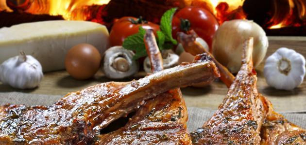 طريقة شوي اللحم بالفرن