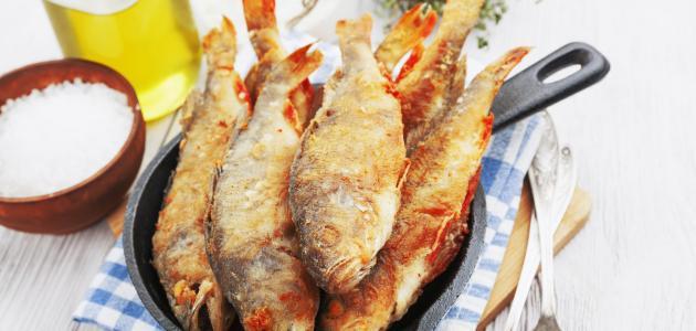 طريقة تتبيل السمك المقلي