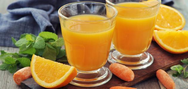 فوائد عصير البرتقال والجزر