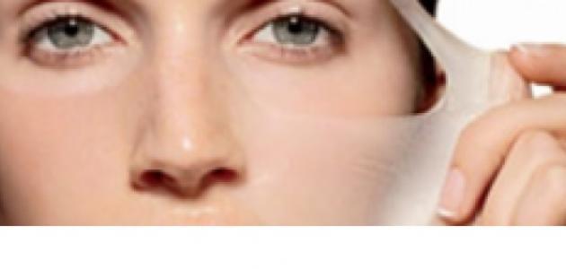 طرق تقشير الوجه