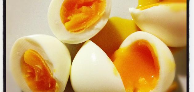 طريقة عمل البيض المسلوق