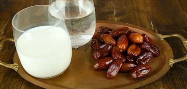 فوائد الحليب والتمر