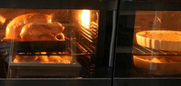 طريقة شوي الدجاج في الفرن