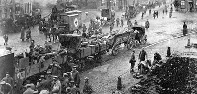 مراحل الحرب العالمية الأولى موضوع