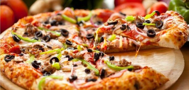 طريقة صنع البيتزا