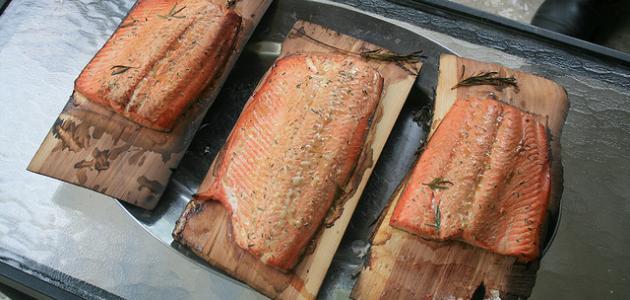 طريقة شوي السمك في الفرن