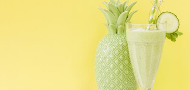 طريقة عصير الأناناس