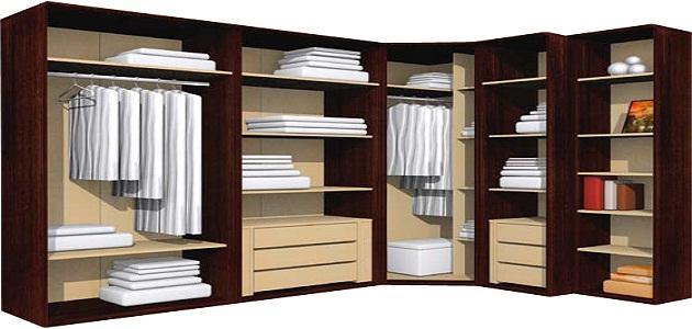 طريقة ترتيب الملابس في الخزانة
