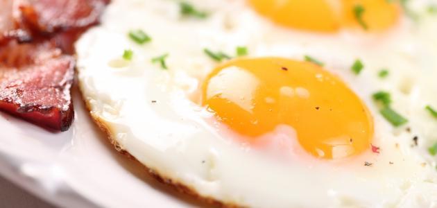 طريقة عمل بيض مقلي