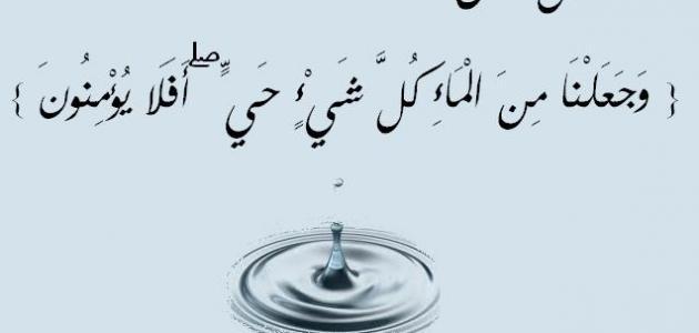 أهمية الماء للإنسان موضوع