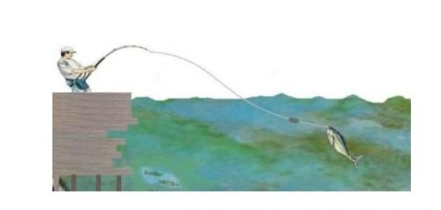 طريقة الصيد بالصنارة