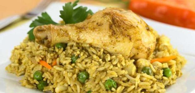 طرق طبخ الدجاج مع الأرز