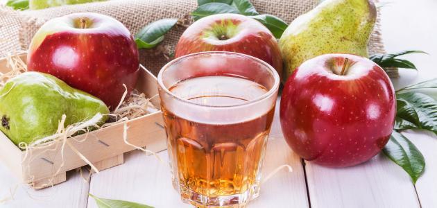 فوائد عصير التفاح الأحمر