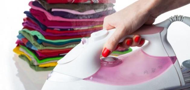 طريقة كوي الملابس