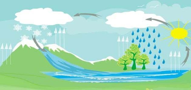 مراحل دورة الماء موضوع
