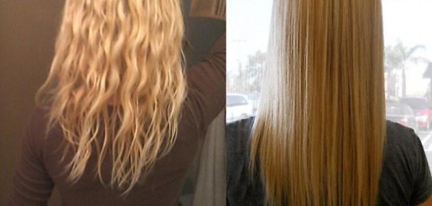 طرق تنعيم الشعر الخشن والجاف