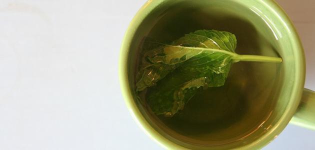 فوائد شاي الأخضر بالنعناع