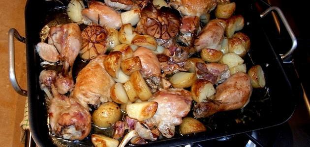 طريقة عمل صواني الدجاج