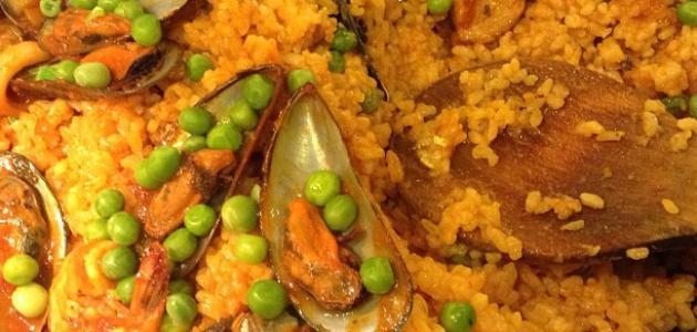 ## البايلا مع الماكولات البحرية ،،،•• ط·ط±ظٹ%D