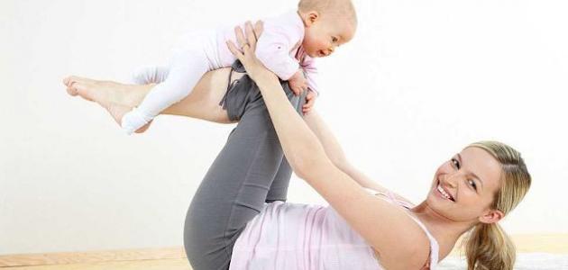 طريقة تخسيس البطن بعد الولادة القيصرية