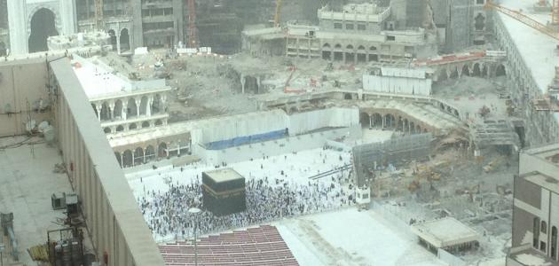 Stages of the expansion of the Holy Mosque