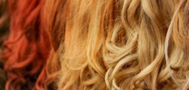 طريقة تفتيح لون الشعر