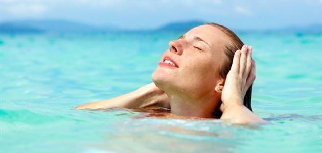 فوائد ماء البحر للبشرة