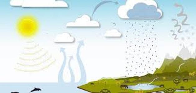 مراحل دورة الماء في الطبيعة موضوع
