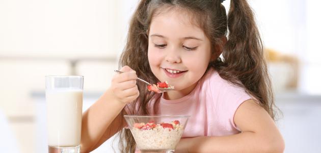 أهمية وجبة الإفطار للأطفال