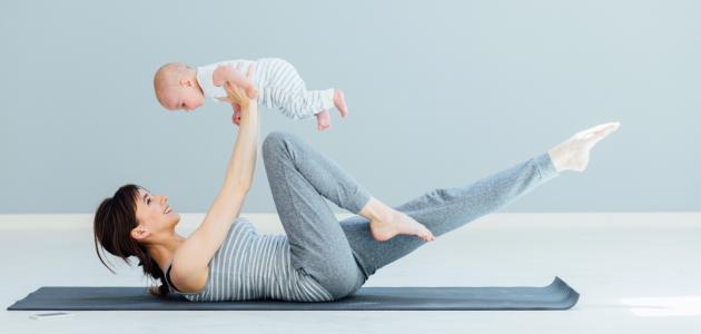 طرق تنحيف البطن بعد الولادة