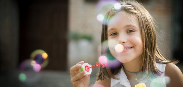 طريقة عمل فقاعات الصابون للأطفال