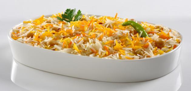 طريقة تحضير أرز أبيض بالزعفران
