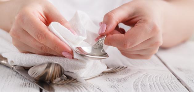 طريقة تلميع الفضة في المنزل