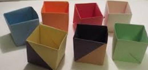 طريقة صنع علبة من الورق