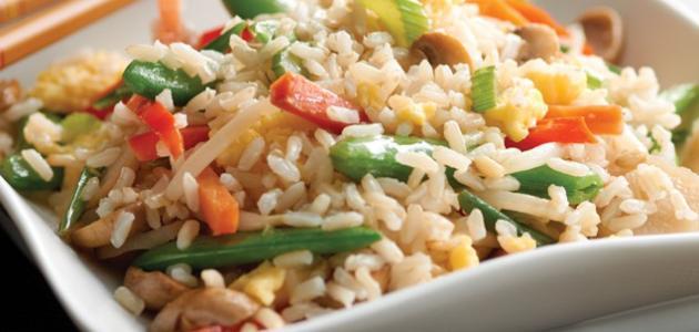 طريقة تحضير أرز بالخضار