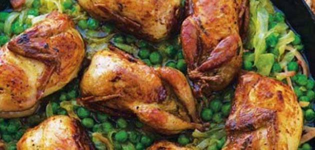 طريقة طبخ طيور السمان