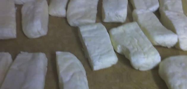 طريقة كبس الجبنة البيضاء