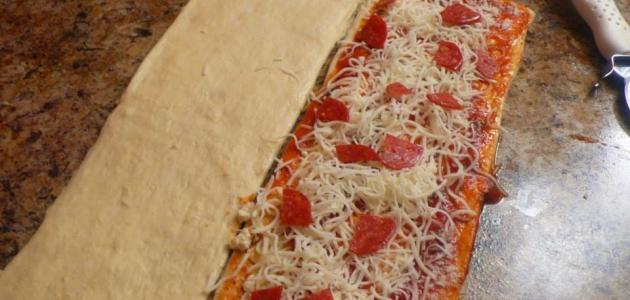 طريقة تفريز البيتزا
