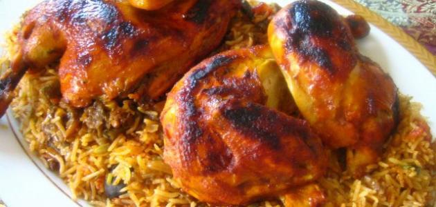 تبسي الدجاج أكلات عراقية