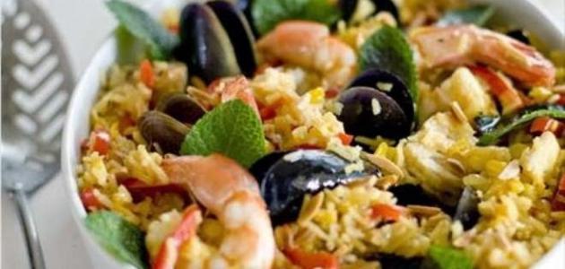 طريقة تحضير أرز بالجمبري والسبيط